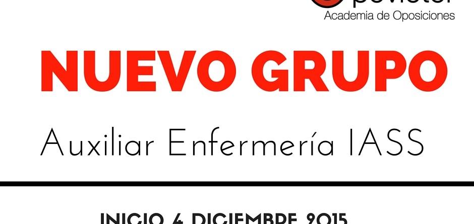 NUEVO GRUPO AUX. ENFERMERÑIA IASS