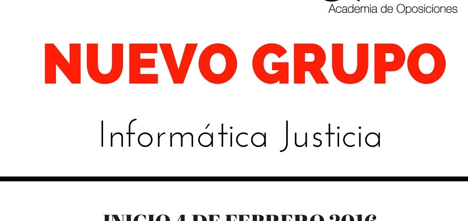NUEVO GRUPO INFORMATICA JUSTICIA