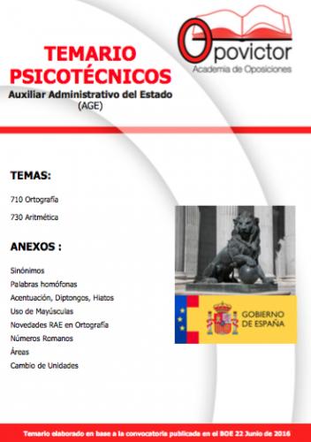 TEMARIO PSICOTÉCNICOS