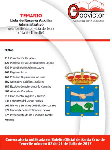 PORTADA TEMARIO GUIA DE ISORA (AUXILIAR)
