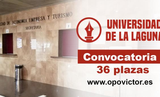 ULL Convocatoria 36 plazas