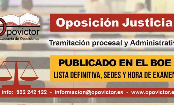 JUSTICIA sedes y examen